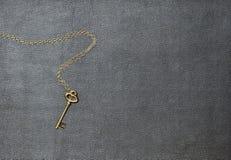 пусковая площадка золота ключевая кожаная лежа Стоковая Фотография RF