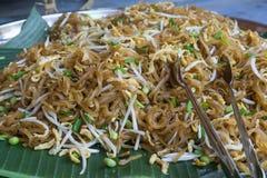 Пусковая площадка тайская имя тайской еды Стоковое Изображение RF