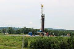 Пусковая площадка природного газа сверля Стоковые Изображения