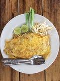 Пусковая площадка тайская; Тайская еда Стоковые Изображения