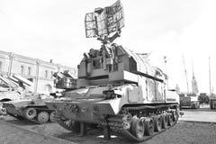 Пусковая установка 9A330 скалистой вершины 9K330 ракеты сложной в воинском музее артиллерии Стоковые Фото