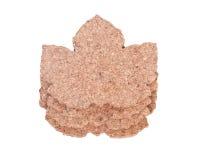 Пусковые площадки пробочки формы кленового листа Стоковые Фотографии RF