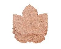 Пусковые площадки пробочки формы кленового листа Стоковые Изображения RF