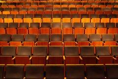 Пустая аудитория, строки стульев стоковая фотография rf