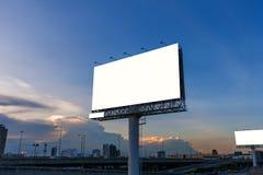 Пустая афиша на времени захода солнца для рекламы Стоковая Фотография RF