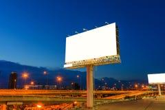 Пустая афиша на twilight времени для рекламы Стоковые Фотографии RF