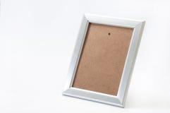 Пустая алюминиевая рамка для фото Стоковые Фото
