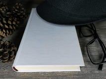 Пустая белая книга модель-макета Стоковые Изображения