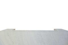 Пустая белая мраморная таблица на белой предпосылке На дисплей или понедельник стоковое изображение rf