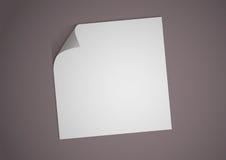 пустая белизна бумаги иллюстрации Стоковые Изображения