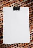 пустая белизна бумаги примечания Стоковые Фотографии RF
