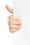 пустая белизна бумаги удерживания руки Стоковые Фото