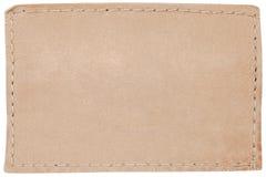 пустая белизна кожи ярлыка джинсыов стоковая фотография rf