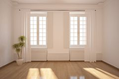 пустая белизна комнаты Стоковое фото RF
