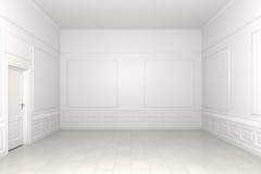 пустая белизна комнаты Стоковые Изображения