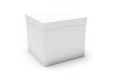 пустая белизна конца коробки Стоковое фото RF