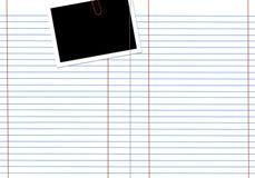 пустая белизна тетради Стоковое фото RF