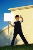 пустая белизна школьника Стоковое фото RF