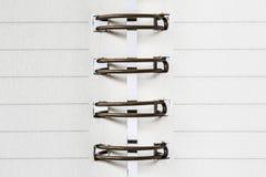 Пустая белая бумага в связывателе с вязкой кольца металла Стоковая Фотография RF