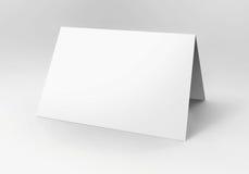 Пустая белая карточка Стоковое Изображение