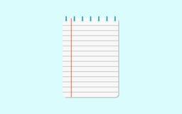 Пустая белая книга тренировки рабочего листа также вектор иллюстрации притяжки corel Иллюстрация вектора