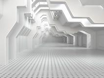 Пустая белая комната с окнами Стоковое фото RF