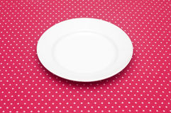 Пустая белая плита обедающего Стоковые Фото