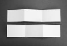 Пустая белая складывая бумажная рогулька Стоковое Изображение RF
