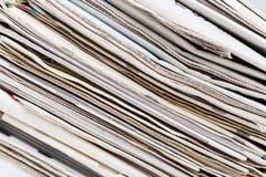 пустая белизна бумажного стога газет верхняя Стоковое Изображение RF