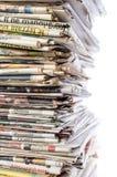 пустая белизна бумажного стога газет верхняя Стоковое Фото
