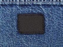 пустая бирка джинсовой ткани Стоковые Изображения RF