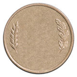 Пустая бронзовая монетка стоковое изображение rf