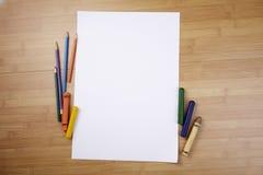 Пустая бумага искусства для эскиза Стоковое Изображение