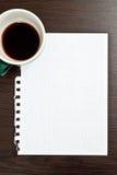 пустая бумага кофе Стоковые Изображения