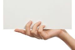 пустая бумага листьев руки Стоковые Фотографии RF