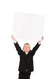 пустая бумага мальчика Стоковое Изображение RF