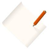 Пустая бумага примечания Стоковое Изображение RF