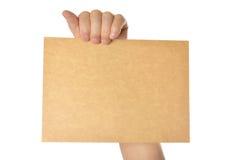 пустая бумага удерживания Стоковая Фотография RF