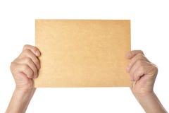 пустая бумага удерживания Стоковая Фотография