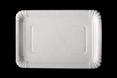 пустая бумажная плита Стоковая Фотография RF