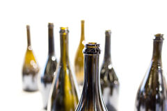 Пустая бутылка вина на белой предпосылке Стоковое Фото