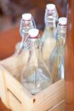 Пустая бутылка ликера Стоковые Изображения