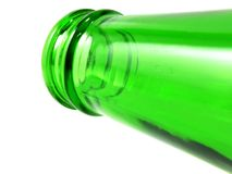 Пустая бутылка оливкового масла изолированная на белой предпосылке Стоковое Фото