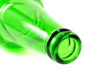 Пустая бутылка оливкового масла изолированная на белой предпосылке Стоковые Фотографии RF