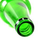 Пустая бутылка оливкового масла изолированная на белой предпосылке Стоковые Изображения RF