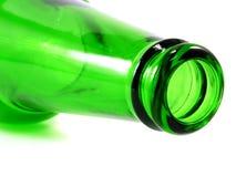 Пустая бутылка оливкового масла изолированная на белой предпосылке Стоковые Изображения