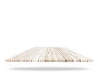 Пустая верхняя часть деревянного настила изолированная на белой предпосылке сохранено Стоковые Изображения