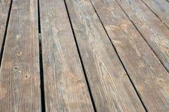 Пустая верхняя часть деревянной предпосылки Стоковые Фотографии RF