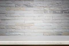 Пустая верхняя часть предпосылки естественной каменной таблицы и каменной стены Стоковая Фотография