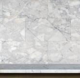 Пустая верхняя часть предпосылки естественной каменной таблицы и каменной стены Стоковое Изображение RF